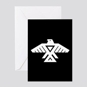 Anishinaabe Thunderbird flag Greeting Cards