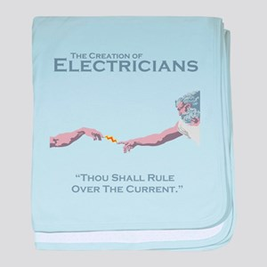 The Creation of Electricians baby blanket
