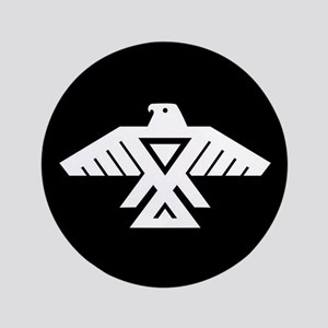 Anishinaabe Thunderbird flag Button