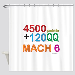 MACH 6 formula Shower Curtain