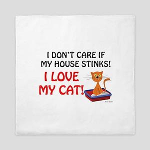 Love my cat Queen Duvet
