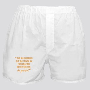 """She persisted!"" Boxer Shorts"