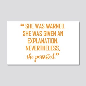"""""""She persisted!"""" 20x12 Wall Decal"""