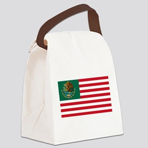 mexamerican_flag Canvas Lunch Bag