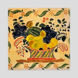 Basket of Fruit American Art Queen Duvet