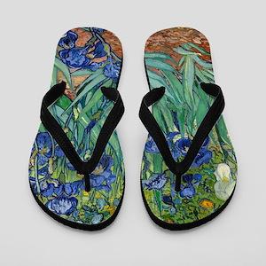 Van Gogh Iris Flip Flops