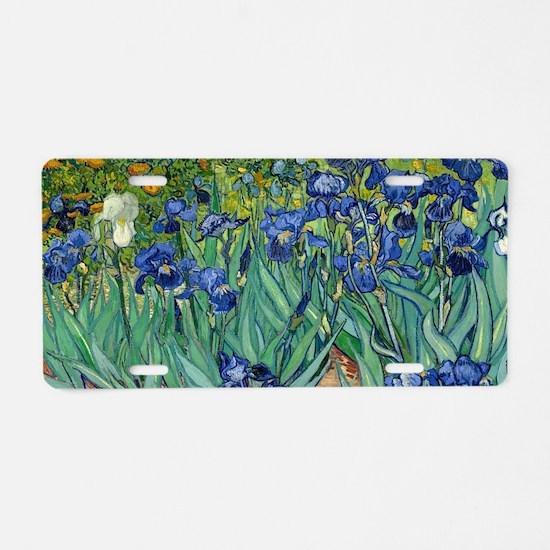Van Gogh Iris Aluminum License Plate