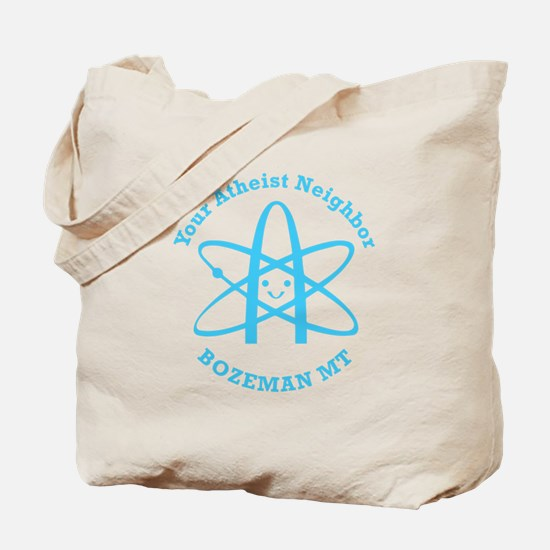 Atheist Neighbor Bozeman BLUE Tote Bag