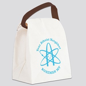 Atheist Neighbor Bozeman BLUE Canvas Lunch Bag
