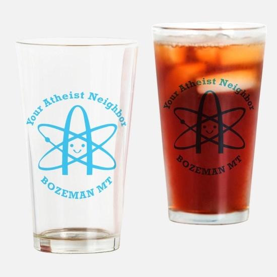 Atheist Neighbor Bozeman BLUE Drinking Glass