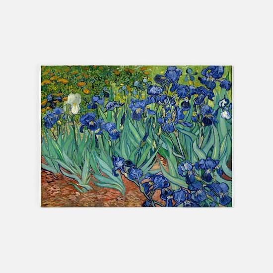 Van Gogh Iris 5'x7'Area Rug