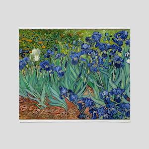 Van Gogh Iris Throw Blanket