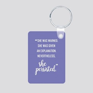 SHE PERSISTED Aluminum Photo Keychain
