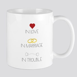 Love Marriage Trouble Mugs