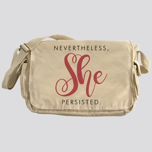 Nevertheless, She Persisted. Messenger Bag