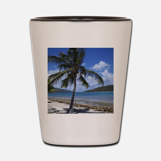 Bitter End Yacht Club Palm Tree Shot Glass