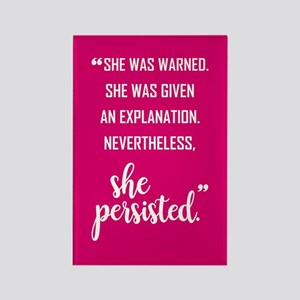 SHE PERSISTED Rectangle Magnet
