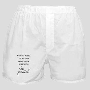 SHE PERSISTED Boxer Shorts