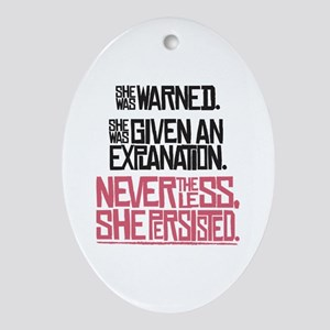 Nevertheless, She Persisted. Oval Ornament