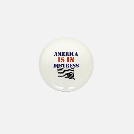 America is in Distress Mini Button