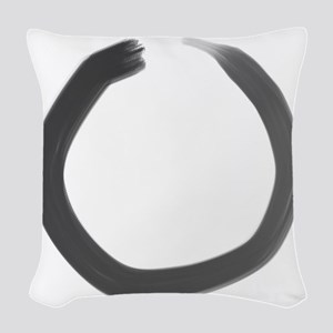 Enso Zen Buddhist Circle Woven Throw Pillow