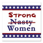 Nasty Women Square Car Magnet 3