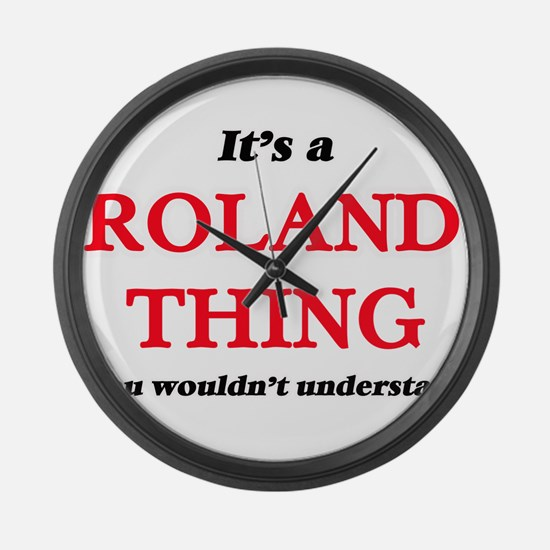 It's a Roland thing, you woul Large Wall Clock