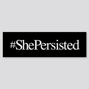 Nevertheless, She Persisted. Sticker (Bumper)