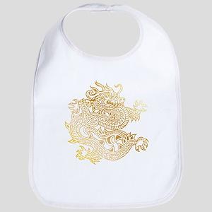 Chinese Dragon Brass Baby Bib