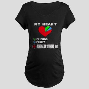 My Heart, Friends, Family, Maternity Dark T-Shirt