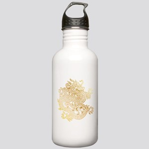 Chinese Dragon Brass Stainless Water Bottle 1.0L