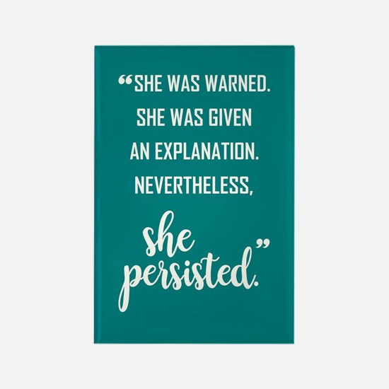 SHE PERSISTED Rectangle Magnet (10 pack)