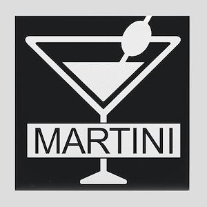 Martini - Black Tile Coaster