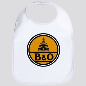 Baltimore and Ohio train logo Baby Bib