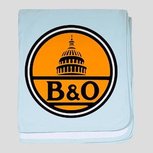 Baltimore and Ohio train logo baby blanket