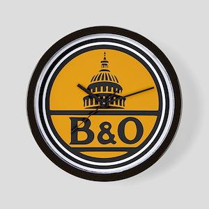 Baltimore and Ohio train logo Wall Clock