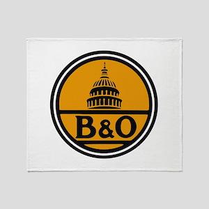Baltimore and Ohio train logo Throw Blanket