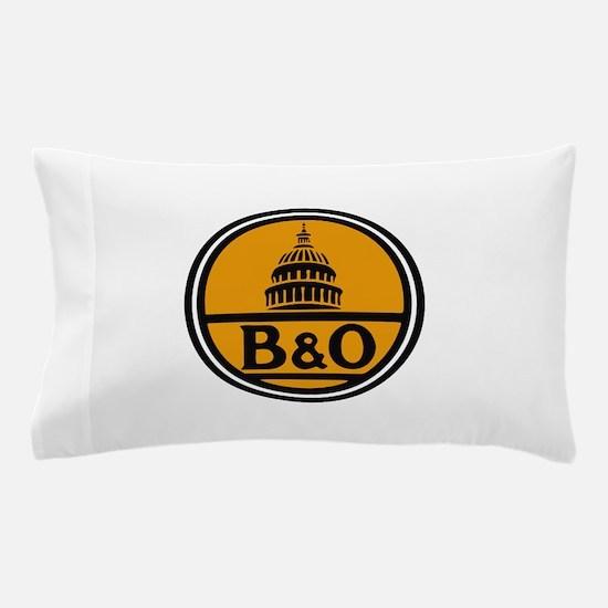 Baltimore and Ohio train logo Pillow Case