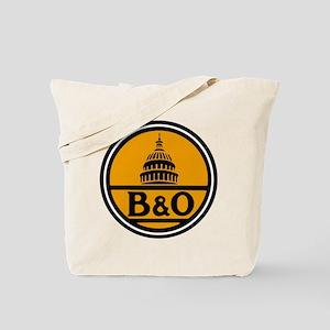 Baltimore and Ohio train logo Tote Bag