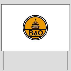 Baltimore and Ohio train logo Yard Sign