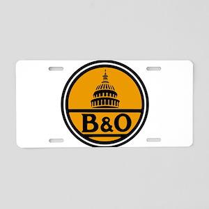 Baltimore and Ohio train lo Aluminum License Plate