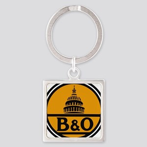 Baltimore and Ohio train logo Keychains
