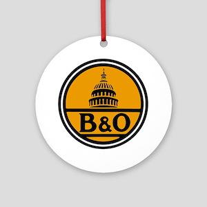 Baltimore and Ohio train logo Round Ornament