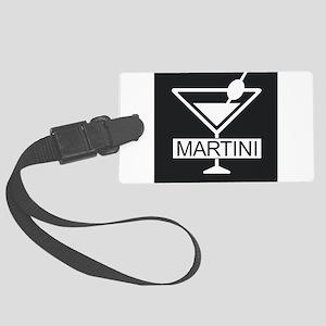 Martini - Black Large Luggage Tag