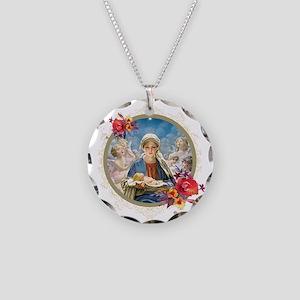 Star of Bethlehem Necklace Circle Charm