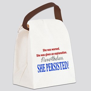 She Persisted Canvas Lunch Bag