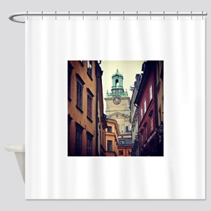 Sweden Clock Tower Shower Curtain