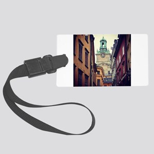 Sweden Clock Tower Large Luggage Tag