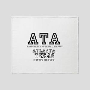 TEXAS - AIRPORT CODES - ATA - HALL~M Throw Blanket