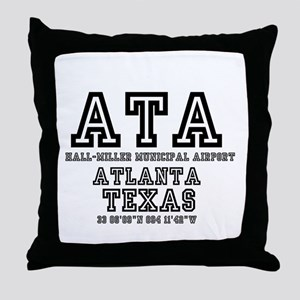 TEXAS - AIRPORT CODES - ATA - HALL~MI Throw Pillow